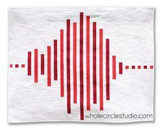 Make a major statement — with only two fabrics! This would make a cool ECG quilt....just saying