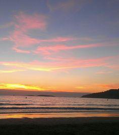 Sunset, Playa America, Nigran, Spain, Beach.