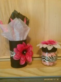 Zebra print party favors. By VMT