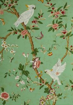 A Week S Worth Of Wallpaper Ideas Chinoiserie Laurel Home Chinoiserie Wallpaper, Bird Wallpaper, Chinoiserie Chic, Wallpaper Panels, Fabric Wallpaper, Pattern Wallpaper, Wallpaper Ideas, Wallpaper Murals, Beautiful Wallpaper