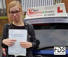 Congratulations to Emily Dorey from Brafield -on-the-Green who passed her practical Driving Test on the 23rd January 2017, 1st time too. Very well done and best wishes from your Driving Instructor Nigel and all of us here at Flexdrive Driving School.  Emily, who attends Wollaston School had driving lessons in Northampton with Flexdrive Driving School. #drivinglessons #learntodrive #northampton