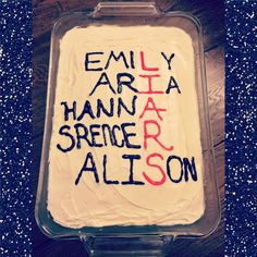 Our Pretty Little Liars Cake To Celebrate The Big -A reveal