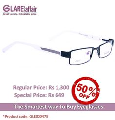 EDWARD BLAZE EBPR2011 BLACK WHITE EYEGLASSES  http://www.glareaffair.com/eyeglasses/edward-blaze-ebpr2011-black-white-eyeglasses.html  Brand : Edward Blaze  Regular Price: Rs1,300 Special Price: Rs649  Discount : Rs651 (50%)