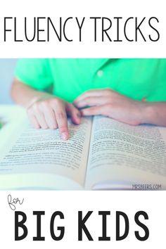 5 Reading Fluency Tricks for BIG KIDS