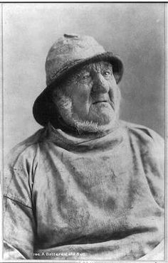 Photo:'A Battered old salt',Old Fisherman,Portrait,wearing hat,beard | eBay
