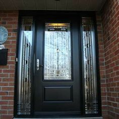Stained Glass Front Entry Door With Side Panels | Exterior Stained Glass  Single Fiberglass Front Glass Pictures