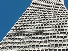 Have you ever wondered how they clean the windows on the TransAmerica Pyramid? Look closely: steel arms swing out at certain windows to lower the platform down.