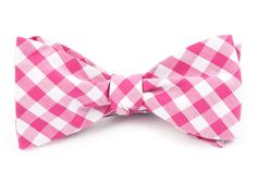 CLASSIC GINGHAM BOW TIES - HOT PINK | Ties, Bow Ties, and Pocket Squares | The Tie Bar