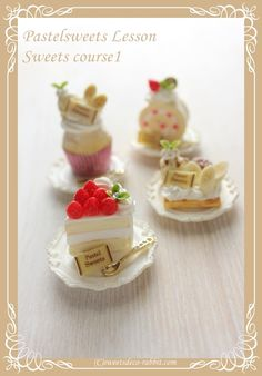 Tiny Food, Fake Food, Rement, Cute Clay, Miniature Food, Dollhouse Miniatures, Barbie Dolls, Polymer Clay, Bakery