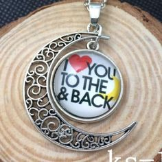 I ❤️ You to the Moon and Back Silver Necklace Brand New Jewelry Necklaces
