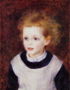 """Margot Berard"" -- by Pierre-Auguste Renoir (French, 1841–1919) **"