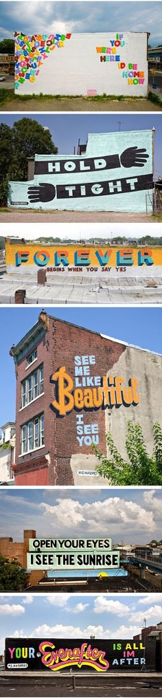 Love letters. I used to drive past the first one every week on the way back from the doctor. The murals are one of my favorite parts of Philly.