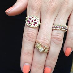 Ruby and Diamond Simple and Sweet Jewelry from a few of our Favorite Designers, Shop Eliza Page