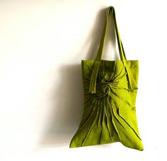 Linen Tote by Carol Gilbert: Made of hand dyed linen, full lined with an inside pocket.  #Tote #Linen #Carol_Gilbert