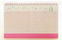 """""""Jardim dos doces"""" Calendário de Mesa 2017 Mesa de Estudo da Agenda Planejador Scheduler Para Fazer A Lista de Trabalho Bonito"""