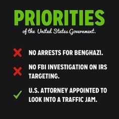 Priorities of the United States Government.... it's all smoke and mirrors - distraction and cover up.