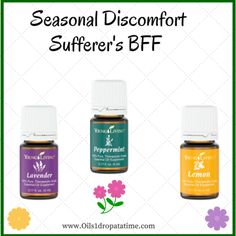 seasonal discomfort support using EO's. To learn more visit... www.Oils1dropatatime.com