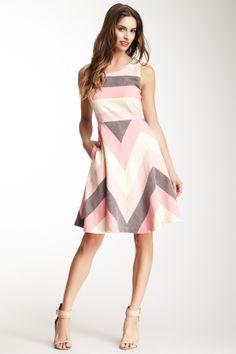 Zig to my Zag Linen Dress
