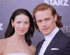 Sam and Cait Attend The Outlander S2 Premiere |