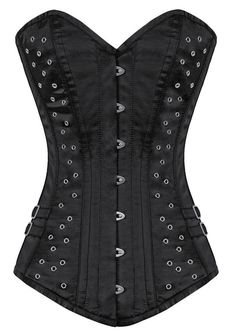 Aren't you just riveted by the sight?The Violet Vixen - Rosie Riveted Corset - Black, $81.00 (http://thevioletvixen.com/authentic-corsets/rosie-riveted-corset-black/) black steel bones corset women curvy metal rivets gorgeous sexy buckles