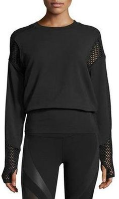 Shop Now - > https://api.shopstyle.com/action/apiVisitRetailer?id=629639009&pid=uid6996-25233114-59 Alo Yoga Formation Long-Sleeve Top, Black ...