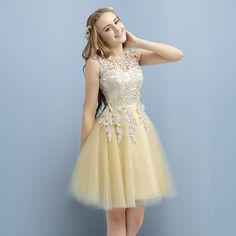 Applique Short Cocktail Dresses for Juniors, Lace Homecoming Dresses, Cute Prom Party Dress on Sale