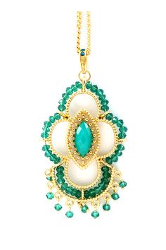Kelly Green Ombre Charlotte Necklace