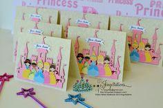 Birthday and Baby Shower Invitations: Handmade #PrincessTiana, #SnowWhite, #Belle #SleepingBeauty #Cinderella #Invitaciones #Convites.. Email: jingvites@gmail.com for inquiries
