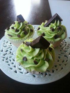 Mint choc chip cupcakes! Yum! www.facebook.com/wilddaisy