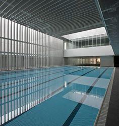 Gallery of Hydrothermal Center 'Aquavox' / Otxotorena - 5 Indoor Pools, Lap Pools, Swimming Pool Architecture, Natural Swimming Pools, Natural Pools, Luxury Pools, Small Pools, Dream Pools, Interior Garden