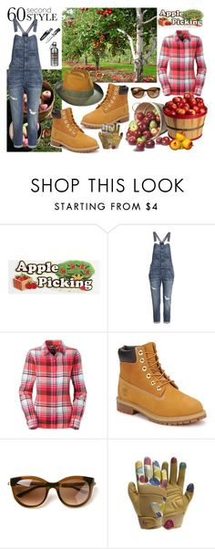 """""""60 Second Style - Apple Picking"""" by gabriele-bernhard ❤ liked on Polyvore featuring H&M, The North Face, Timberland, Thierry Lasry, Apples, Wild & Wolf, applepicking and 60secondstyle"""