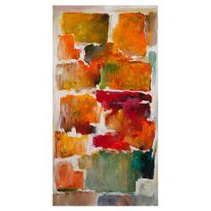 Bassett Mirror Colorful Blocks Abstract Canvas Wall Art - 7300-192BEC