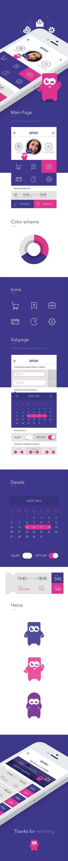 iOS7 Proposal iDTGV by Michal Parulski, via Behance *** #app #gui #ui #behance