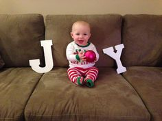 Babies first Christmas photo!