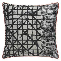 STEELE Black grid patterned cushion 45 x
