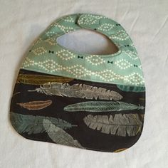 baby bib for the modern funky baby in aztec by FunkyBabyShop