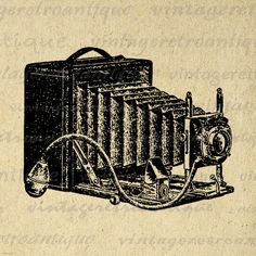 Printable Image Old Camera Graphic by VintageRetroAntique on Etsy Camera Illustration, Antique Illustration, Graphic Illustration, Digital Illustration, Camera Clip Art, Digital Camera, Burlap Background, Antique Cameras, Vintage Cameras