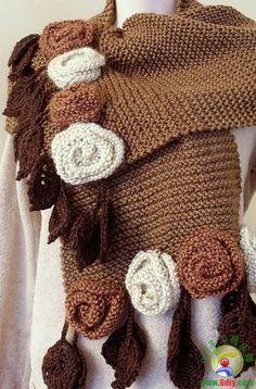 Crochet Tunic, Crochet Baby Hats, Knitted Shawls, Knitted Blankets, Crochet Scarves, Irish Crochet, Crochet Clothes, Knitting Designs, Knitting Stitches