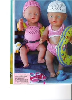 Knitting Dolls Clothes, Knitted Dolls, Doll Clothes Patterns, Crochet Dolls, Baby Born Clothes, Pet Clothes, Baby Girl Crochet, Crochet For Kids, Baby Bjorn