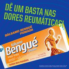 Dores reumáticas? Aplicações locais de Bálsamo Bengué pomada em leves massagens, até que a pomada seja absorvida. #BálsamoBengué