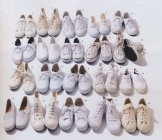 White sneakers All White, White Sneakers, How To Wear, Fudge, Shoes, Collections, Magazine, Style, Closet