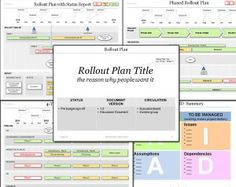 The Powerpoint Rollout Plan Template is ideal for presenting a product rollout plan; a selection of rollout plan formats.