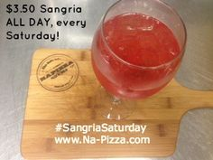 #SangriaSaturday every Saturday at Napizza in Little Italy San Diego & 4S Ranch! $3.50 Sangria all day. Pairs nicely with our Breakfast Pizza!