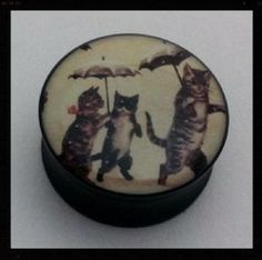 Cats with Umbrellas Double Flared Plug 12-24mm £3.50