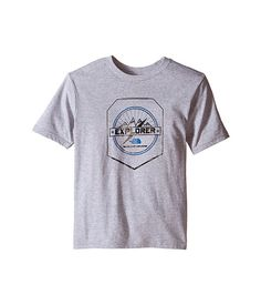 The North Face Kids Short Sleeve Graphic Tee (Little Kids/Big Kids) Jake Blue/Mid Grey - Zappos.com Free Shipping BOTH Ways
