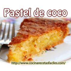 Receta de Pastel de coco, delicioso pastel de coco, con un riquísimo y delicioso sabor a coco y una esponjosa y suave textura, un pastel perfecto para compartirlo en familia