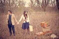 cute engagement photo! love clothes
