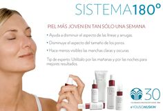 Mejora la apariencia de tu cutis con el Sistema 180. #YoUsoNuSkin Nu Skin, Galvanic Spa, Aging Process, Tips Belleza, Beauty Box, Face And Body, Skin Care, Health, Costa Rica