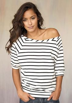 Off-Shoulder Tee..super cute with jeans rolled up at the bottom