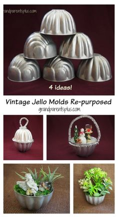 Vintage Jello Molds Re-purposed Cute ideas for re-using vintage molds for everyday use or holidays. Wood Ornaments, Vintage Ornaments, Vintage Crafts, Diy Christmas Ornaments, Rustic Christmas, Christmas Projects, Holiday Crafts, Vintage Christmas, Christmas Decor